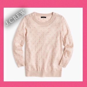 J Crew Embroidered 100% Merino Wool Tippi Sweater